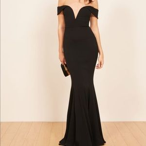 Reformation black Bali gown dress 0 xs